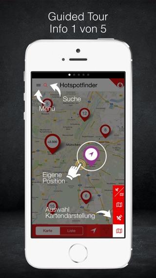 Vodafone Hotspotfinder Screenshot