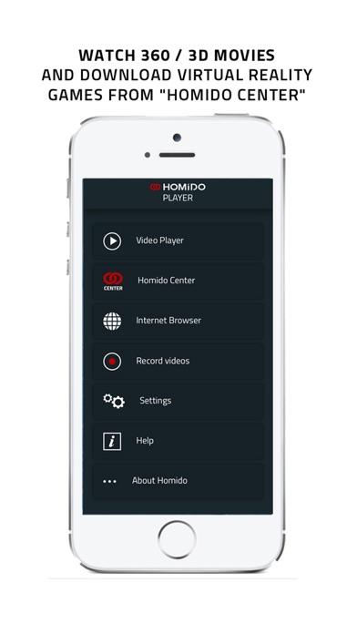 Homido 360 VR player Screenshot