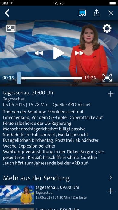 ARD für iPhone Screenshot