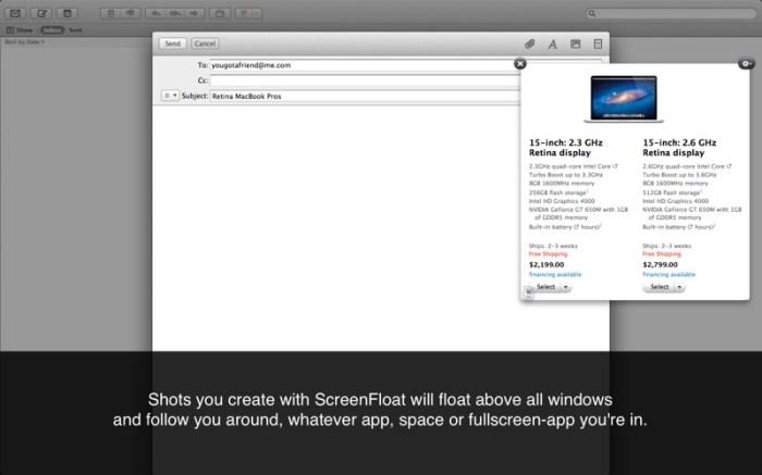 ScreenFloat-Better Screenshots Screenshot 02 x36bkn