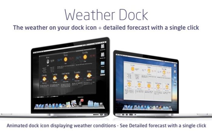 Weather Dock: Desktop forecast Screenshot 01 9wg6z1n