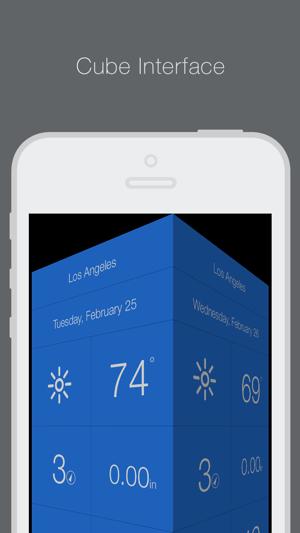 Weathercube - Gestural Weather Screenshot