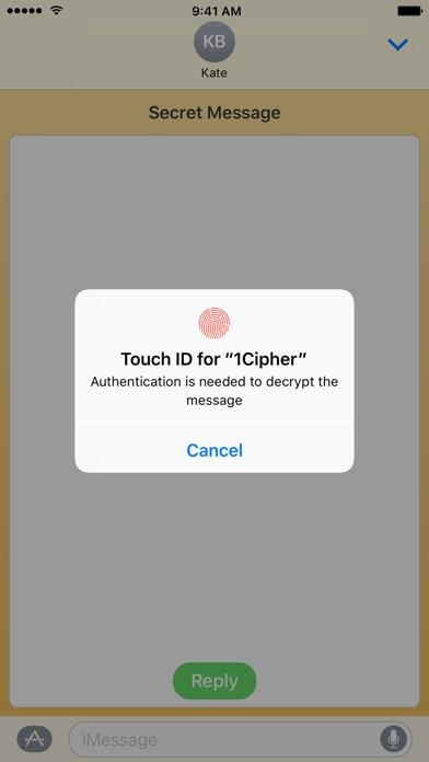 Cipher - Secret and Digitally Signed Messages Screenshot