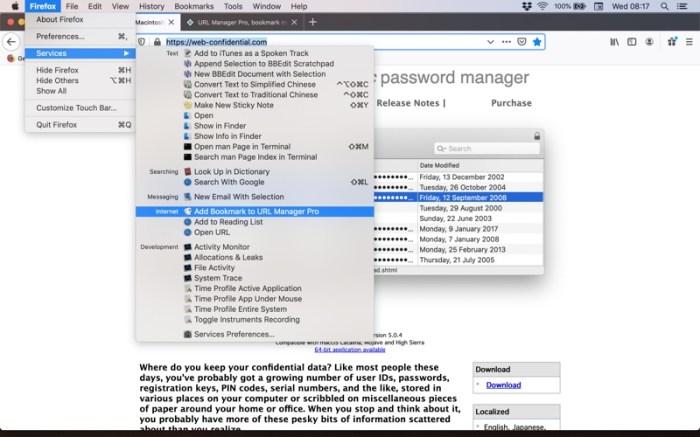 URL Manager Pro Screenshot 10 13bdd7n