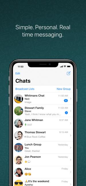WhatsApp Messenger צילומי  מסך