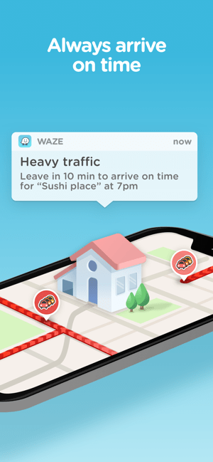 ‎Waze Navigation & Live Traffic Screenshot