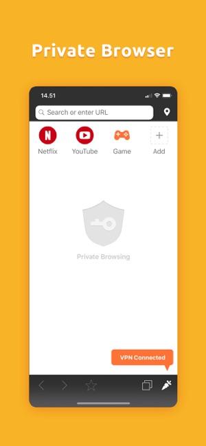 TurboVPN Private Browser Screenshot
