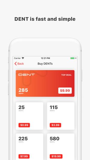 DENT - Send mobile data top-up Screenshot