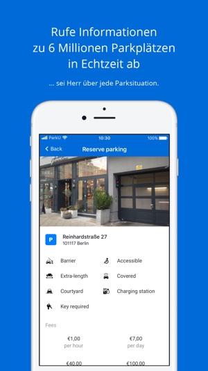 ParkU - Die Parkplatz-App Screenshot