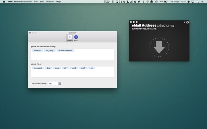 eMail Address Extractor Screenshot 02 ikzeg4n