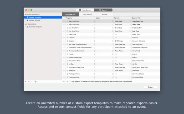 Export Calendars Pro Screenshot 02 12tkisn
