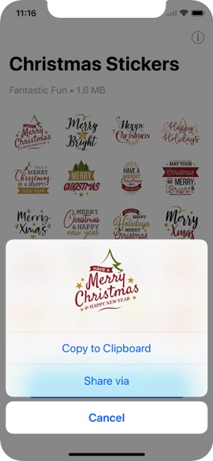 Christmas WAStickerApps Screenshot