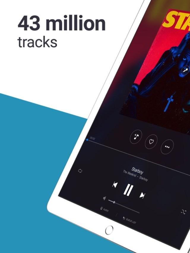 Deezer MP3 music player, radio Screenshot