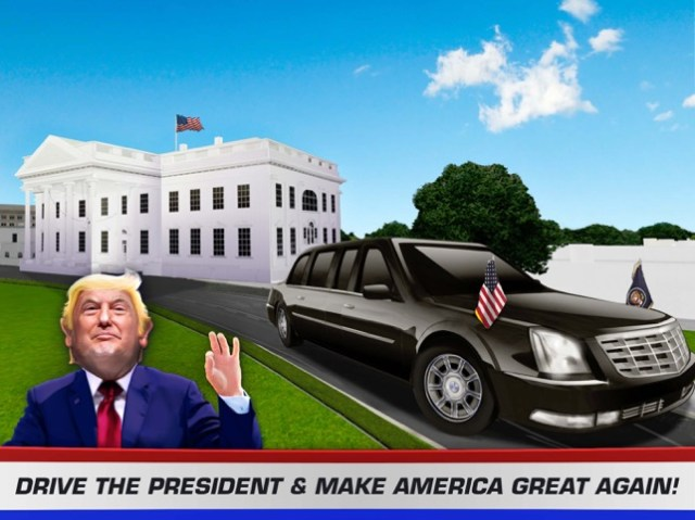 Driving Trump Car Simulator 3D Screenshot