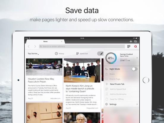 Opera mini web browser Screenshot