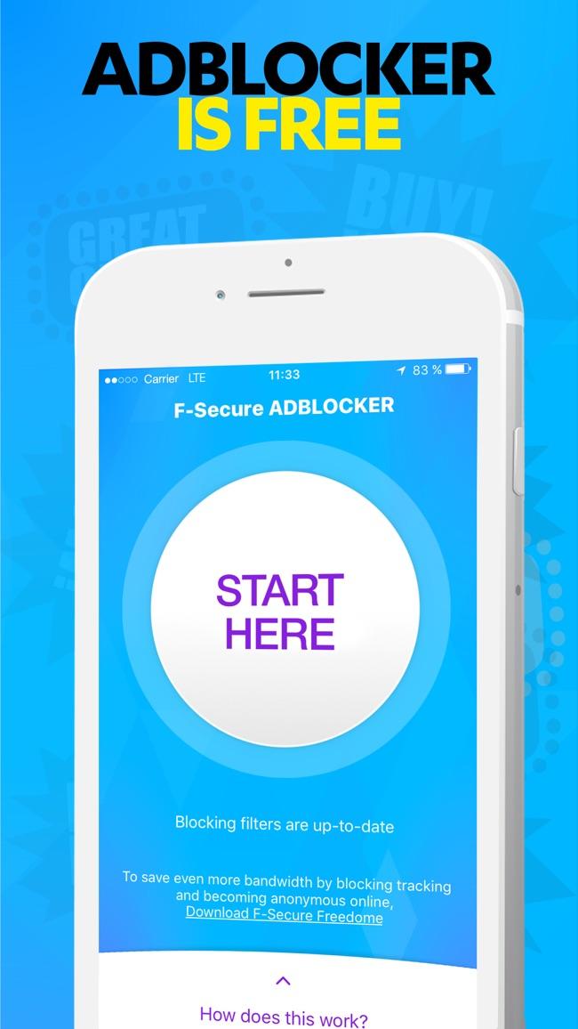F-Secure ADBLOCKER Screenshot