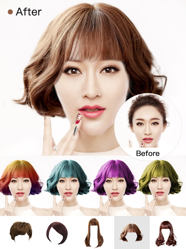 Hair Style Salon&Color Changer Screenshot