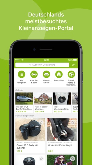 eBay Kleinanzeigen Screenshot