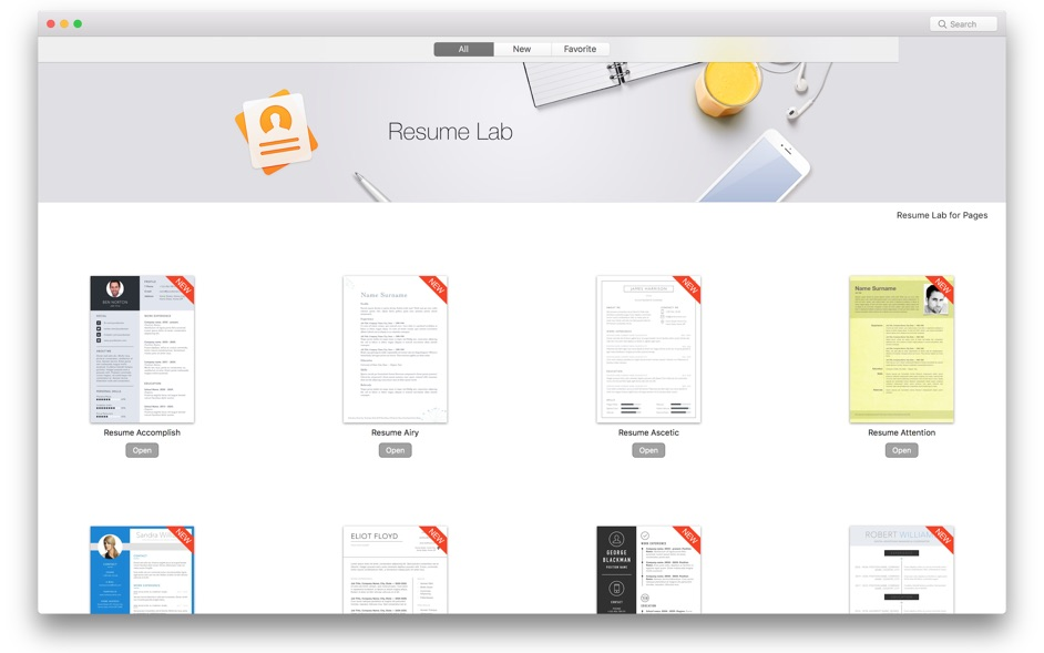 Resume CV Lab for Pages for Mac 1.2.1 破解版 - Pages专业简历模版素材