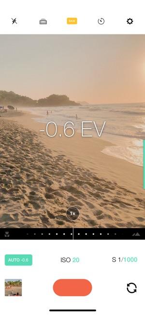Manual – RAW Camera Screenshot