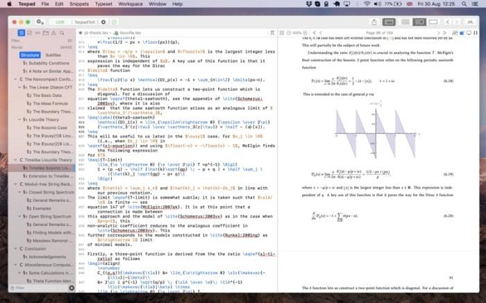 Texpad : LaTeX editor Screenshot 01 f5mxejn