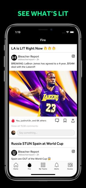 Bleacher Report: Sports News Screenshot