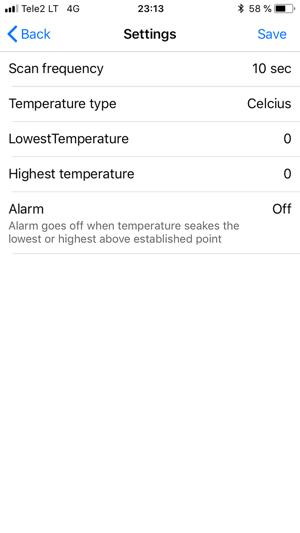 Timberin Temperature Monitor Capture d'écran