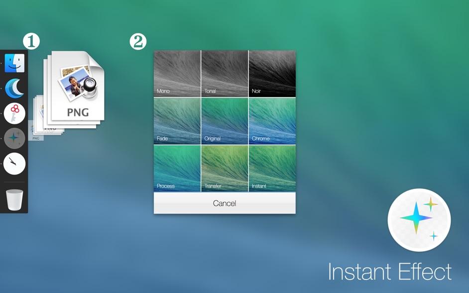 Instant Effects for Mac 1.1.1 破解版 - 超简洁的图片效果实用工具