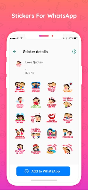 Stickers for whatsapp Chats Screenshot