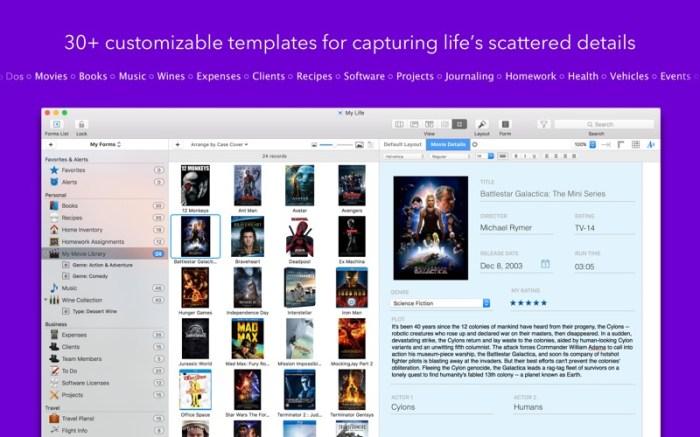 Tap Forms Organizer 5 Database Screenshot 04 57tpe1n