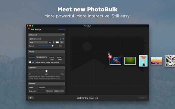 PhotoBulk: watermark in batch Screenshot 01 xnj6bn