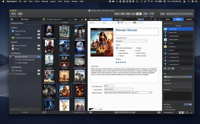 Tap Forms Organizer 5 Database Screenshot 01 57tpe1n