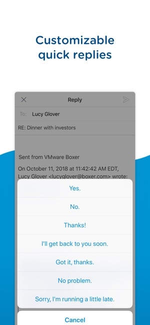 Boxer - Workspace ONE Screenshot