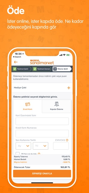 Migros Sanal Market Screenshot
