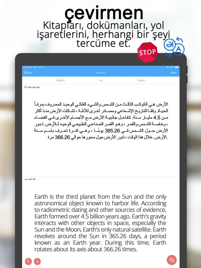 Tarayıcı çevirici tarama belge Screenshot
