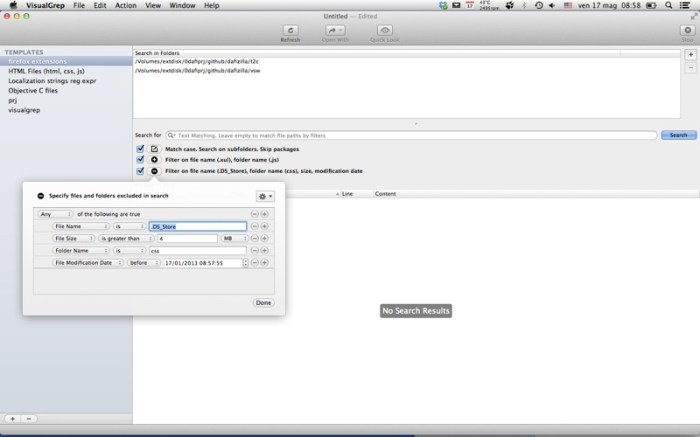 VisualGrep Screenshot 01 f8lwbgn