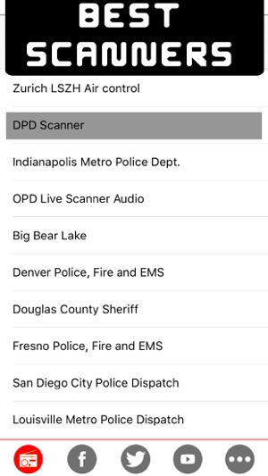Polizei funk scanner - Die besten Radio Polizei, Luftverkehr und Wetter Radarscanner Online-Radiosender Screenshot