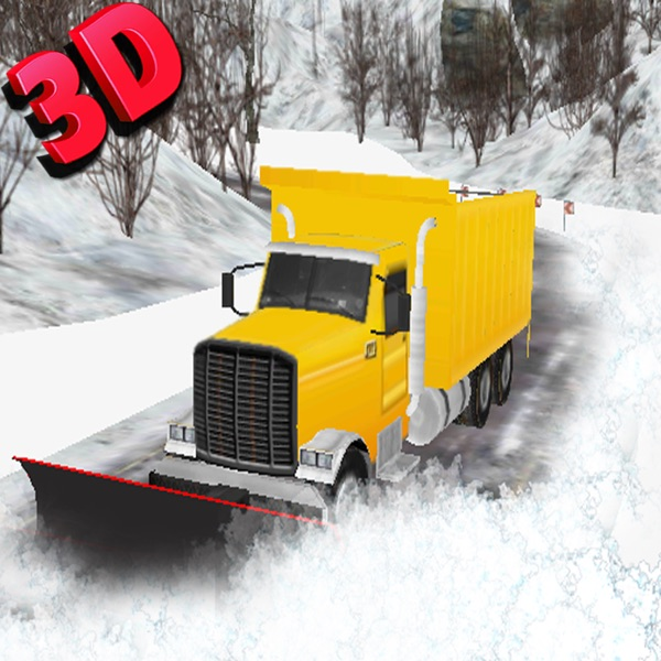 Snow Plow Truck Driver 3D Simulator - Drive snowblower to clear up ice and excavate the snow with excavator