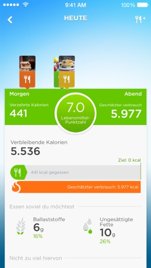 UP by Jawbone - Aufzeichnen mit UP Move™, UP24™ Screenshot
