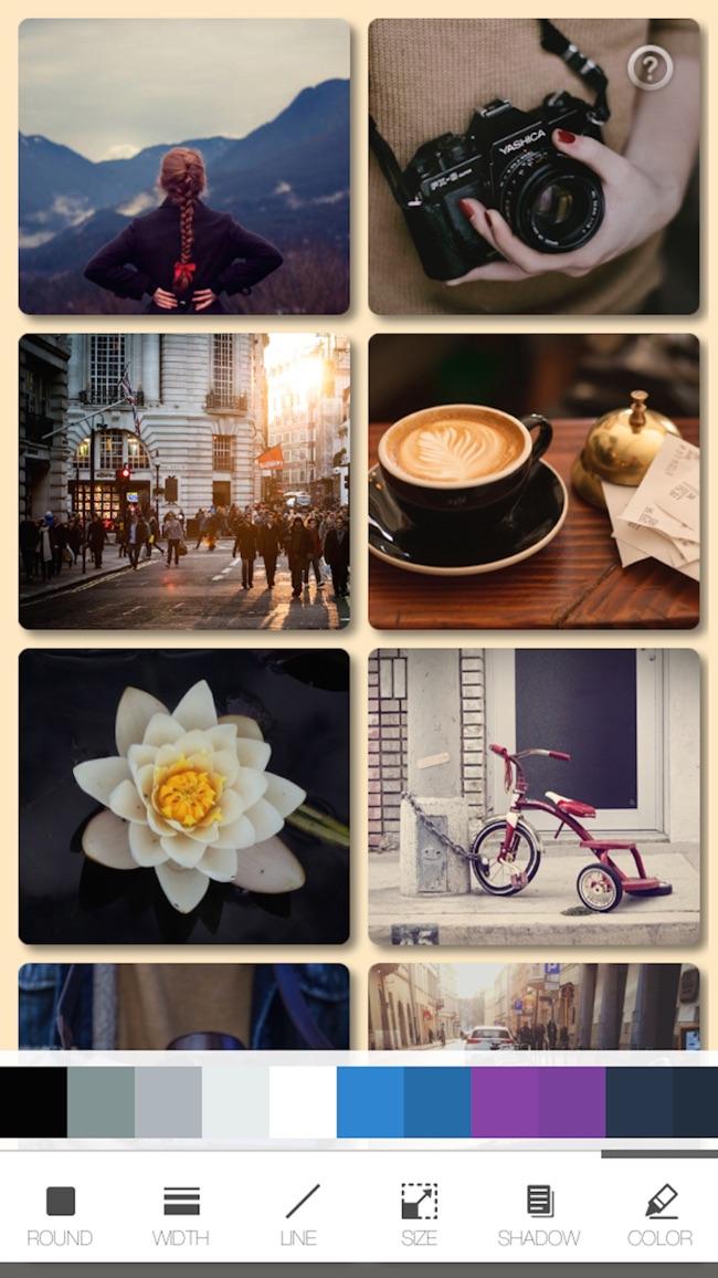 withFrame - Photo collage editor Screenshot