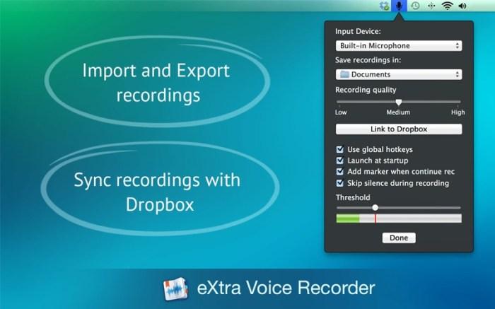 eXtra Voice Recorder Pro. Screenshot 03 vmxwxfy