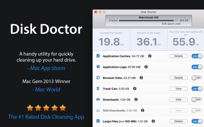 Disk Doctor: System Cleaner Screenshot 01 1lhgn2an