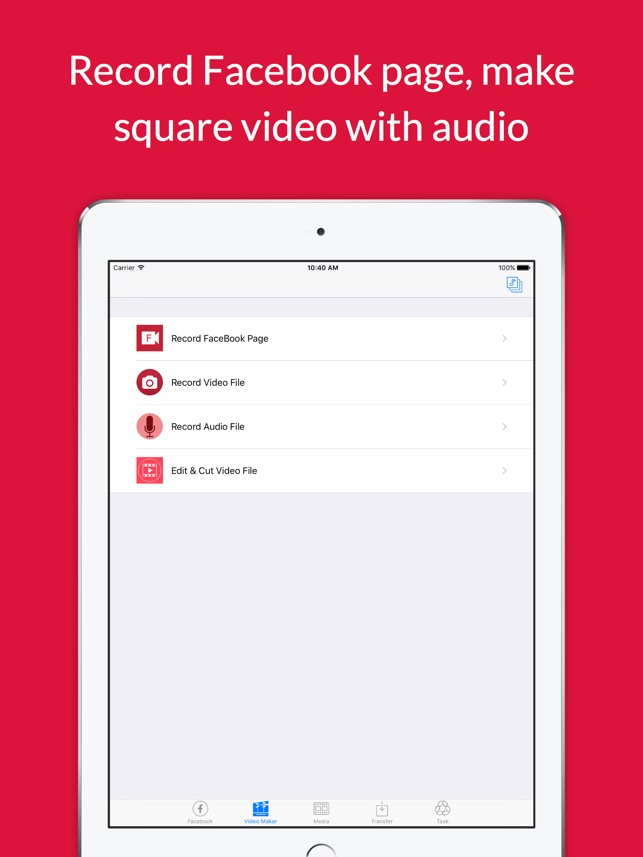 Video Grabby Free - Video Save & Video Editor for Facebook Screenshot