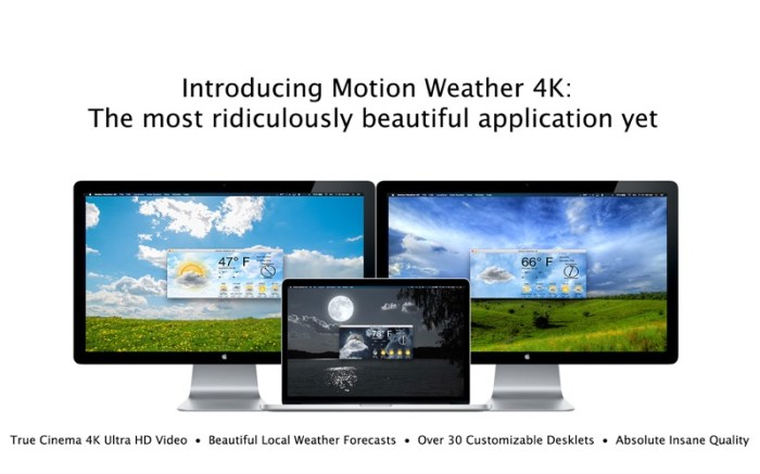 Motion Weather 4K - Ultra HD Screenshot 01 13bs0bn