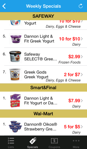 List Shopping Walmart App