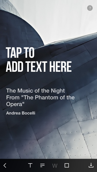 NEXT - turn your music into beautiful artwork Screenshot