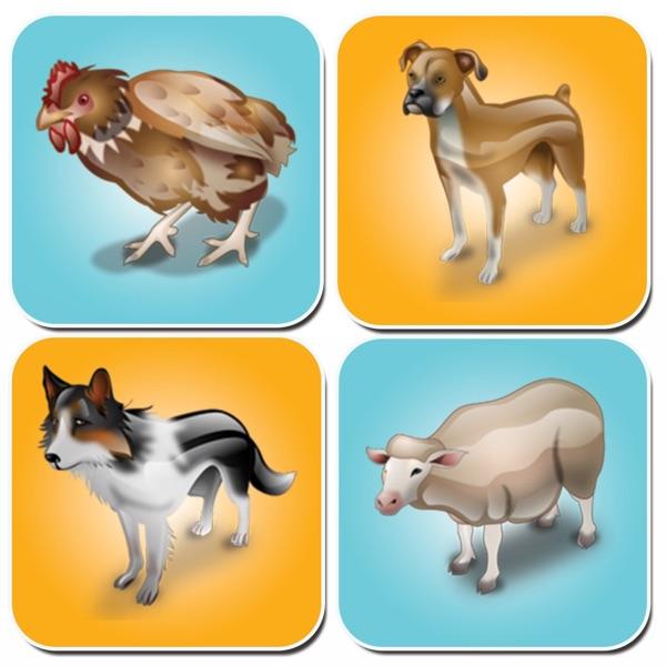 Animal Memory Games - Free Brain Games For Kids
