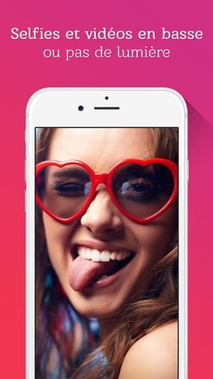 Selfshot - Selfies et Vidéos dans l'obscurité Capture d'écran
