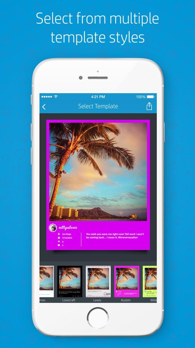 HP Social Media Snapshots Screenshot