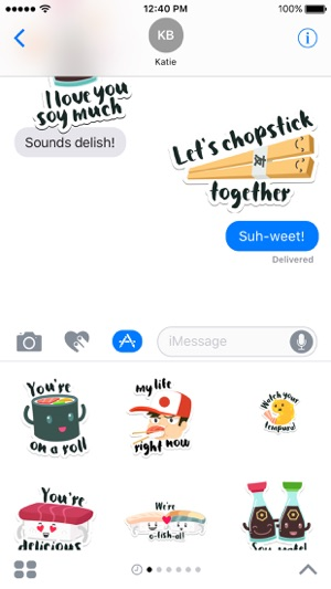 Sushi Stickers for iMessage Screenshot